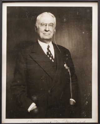 "Portrait Photograph, Signed (""Bernard M Baruch""), of the American Financier. Bernard Baruch"