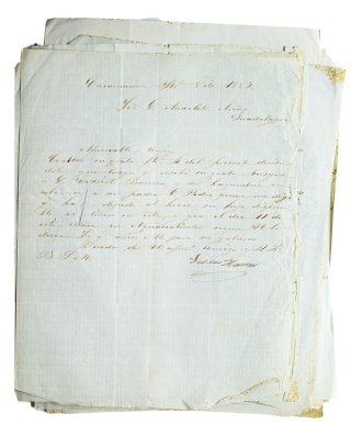 Collection of Letters to Anacleto Arias in Guadalajara, Mexico