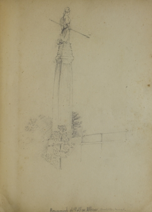 Album of 37 pencil drawings of German scenes with captions in English, early ones of Charlottenburg