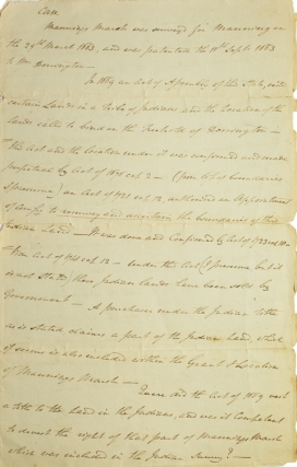 Case of 1799 re: Mannings Marsh and 17th c./18th c. acts re: tribal Indian lands