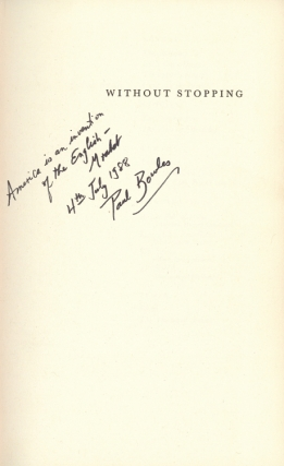 Collection of 31 books inscribed by Paul Bowles to his friend, composer Phillip Ramey