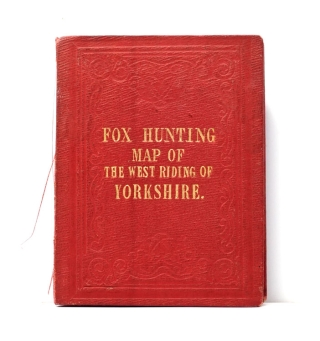 Fox Hunting Map of the West Riding of Yorkshire. Places of the Meeting of Foxhounds. J. Walker, C