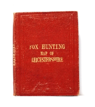 Fox Hunting Map of the Leicestershire. Places of the Meeting of Foxhounds. J. Walker, C