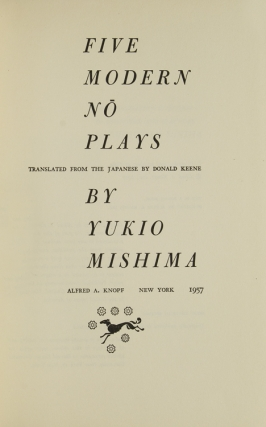 Five Modern No Plays. Translated, with an Introduction, by Donald Keene