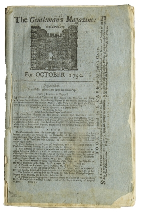The Gentleman's Magazine; for October 1752. Samuel Johnson, Sylvanus Urban, pseud. for Edward Cave
