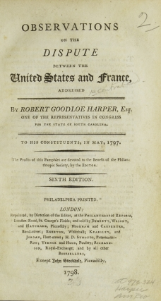 Observations on the Dispute Between the United States and France