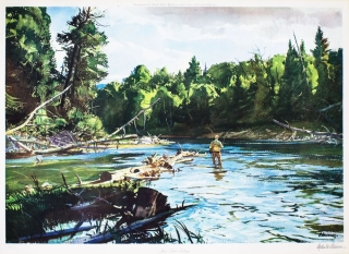 """June Trout Fishing"" Ogden Minton Pleissner"