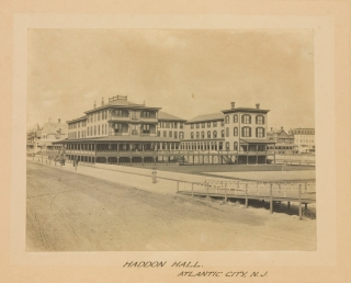 10 Photographs of the Chalfonte Haddon Hall in Atlantic City and Tremont 1885-1890 (3 views), Crystal Cottage Ocean Beach (now Belmar) other property of S.P. Leeds. ATLANTIC CITY.
