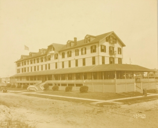10 Photographs of the Chalfonte Haddon Hall in Atlantic City and Tremont 1885-1890 (3 views), Crystal Cottage Ocean Beach (now Belmar) other property of S.P. Leeds