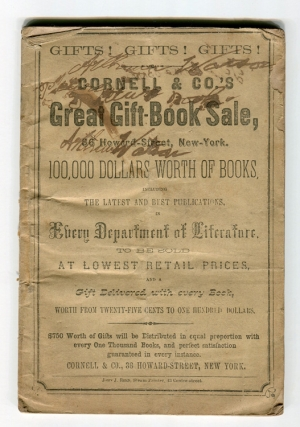 Cornell & Co.'s Great Gift-Book Sale...100,000 dollars worth of books...to be sold at Lowest...