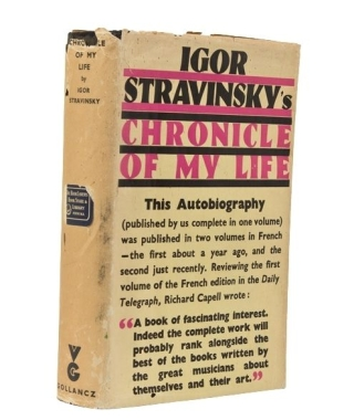 Chronicle of My Life. Igor Stravinsky.