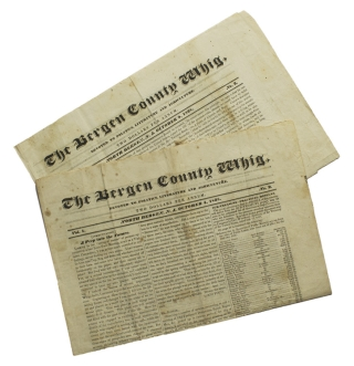 The Bergen County Whig. Devoted to Politics, Literature and Agriculture. Vol. 1. No. 2 & No.3