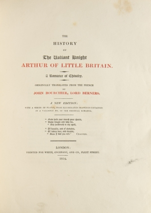The History of the Valiant Knight Arthur of Little Britain