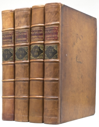 Commentaries on the Laws of England. William Blackstone.