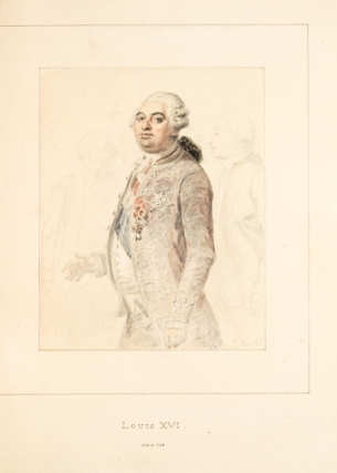 Forty original watercolors for Lamartine's L'Histoire des Girondins