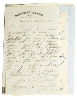 "Autograph letters signed Fanny Lily Gypsey Davenport (""Fanny Davenport"") chiefly to Author and..."