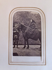 Carte-de-visite photographic album with portraits of Queen Victoria and her children, Prime Ministers and MPs and other notable figures