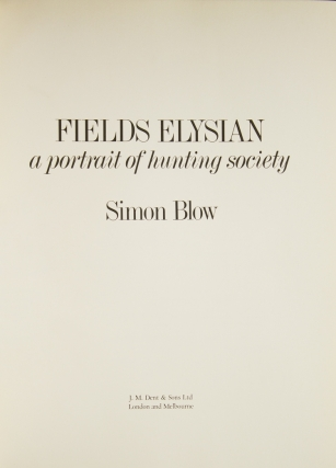 Fields Elysian. A portrait of hunting society