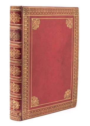 Commonplace book of original drawings, engravings and transcribed poetry. Comte de Caumont Binding