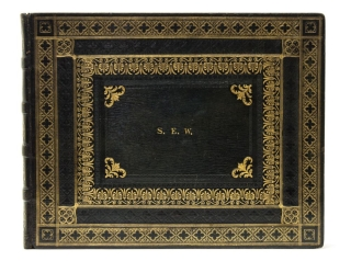 Manuscript music album. English Binding.
