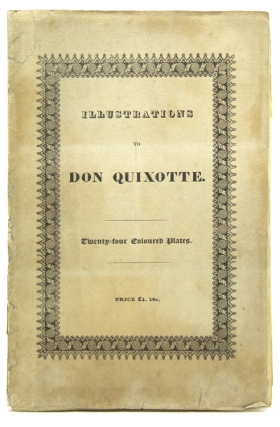Illustrations to Don Quixotte [front cover title]. Miquel de Cervantes