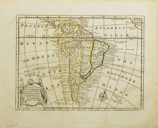 An Accurate Map of South America drawn from the Best Modern Maps and Charts and Regulated by Astrological Observations. South America, Emannual Bowen.