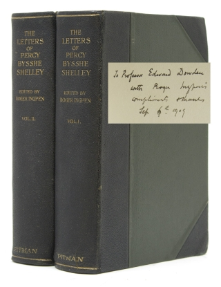 The Letters of...Collected and Edited by Roger Ingpen. With Illiustrations. Shelley, sshe.