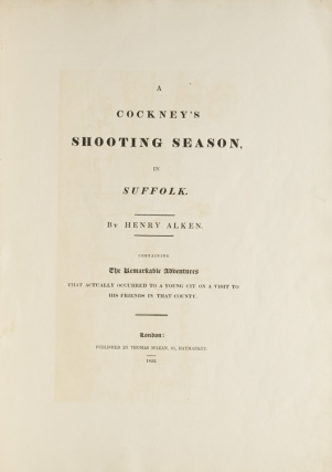 A Cockney's Shooting Season in Suffolk. Henry Alken.