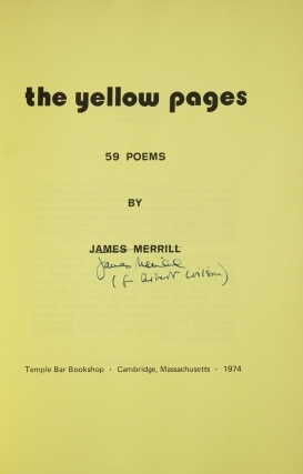 The Yellow Pages. 59 Poems