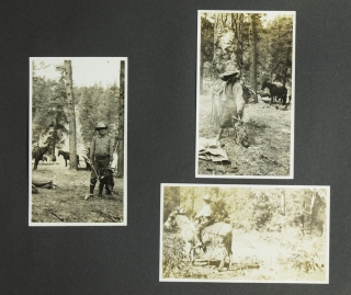 Photograph album. Catallina Island, Grand Canyon, and Wild Turkey Hunting in the Tonto basin, Arizona. [Cover title in white crayon:] Catalina, Tonto, Romer, Girls. Zane Grey.