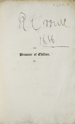 The Prisoner of Chillon, and Other Poems