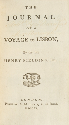 The Journal of a Voyage to Lisbon, by the Late …
