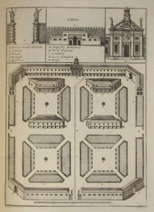 Collection of 22 engraved architectural plates of buildings and monuments in Verona