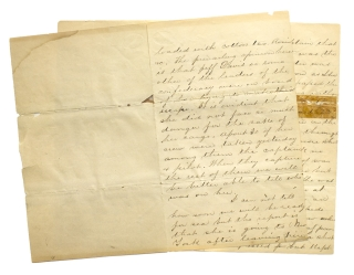 """Autograph Letter, Signed as """"Jes"""" of the USS Port Royal to sister"""