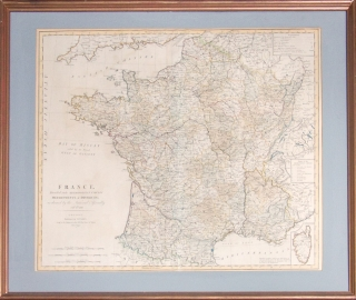 Map of France, Divided into Metro Circle, Departments and Districts as decreed by the National...