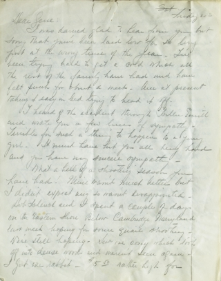 "A FINE GROUP OF 6 AUTOGRAPH LETTERS SIGNED (""JACK"") FROM A.B. FROST'S ARTIST SON JOHN TO EUGENE V. CONNETT, A TOTAL OF 23 PAGES"