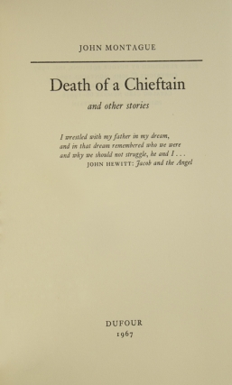 Death of a Chieftan and other stories