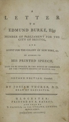 Sammelband of five British pamphlets concerning the American colonies