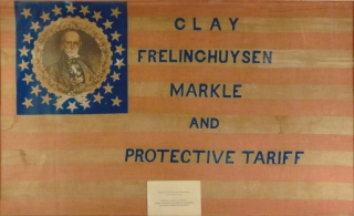 1844 U.S. Presidential Campaign Flag of Henry Clay. Henry Clay
