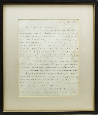 "Autograph Letter, signed (""H. Clay""), to Mr. and Mrs. [Richard] Bayard on the death of their..."