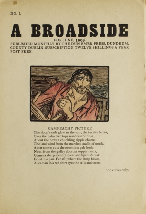 A Broadside. Published Monthly … [Cuala Press Broadsides. First Series]. Cuala Press, Jack Yeats.