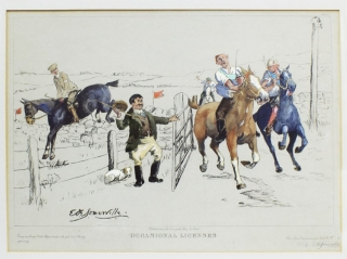 "THE COMPLETE SET OF FOUR HAND-COLORED PRINTS ILLUSTRATING INCIDENTS IN THE ""IRISH..."