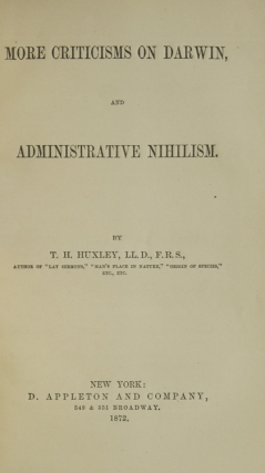 More Criticism on Darwin and Administrative Nihilism