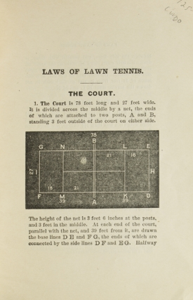 Official Lawn Tennis Rules of the United States National Lawn Tennis Association