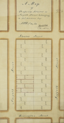 "Manuscript map of ""Property Situated on Norfolk Street belonging to Thos. Gardner, Esq.""..."