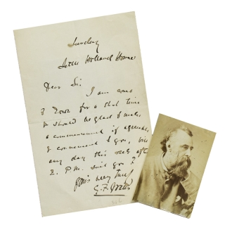 "Autograph letter signed ""G. F. Watts"". Watts, eorge, rederick"