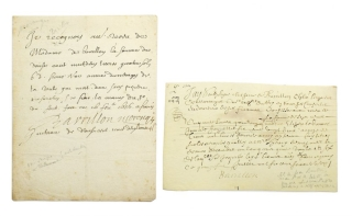 "Two manuscript documents, one signed ""Barillon"" the other ""Barillon de Moragnes"". Louis XIV, Antoine de Barillon de Morangis."