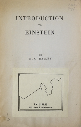 Introduction to Einstein. Including Supplementary Chapters on Mind and Memory