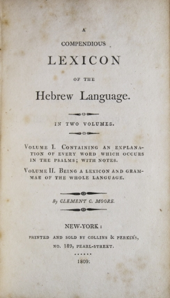 A Compendious Lexicon of the Hebrew Language. In Two Volumes. Volume I. Containing an Explanation of Every Word which Occurs in the Psalms; with Notes. Volume II. Being a Lexicon and Grammar of the Whole Language