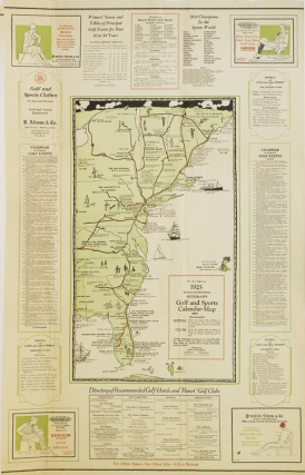Hodgnman's Golf and Sports Calendar Map. 1924-1925 Winter and Spring Edition. No. 15-11th Year....